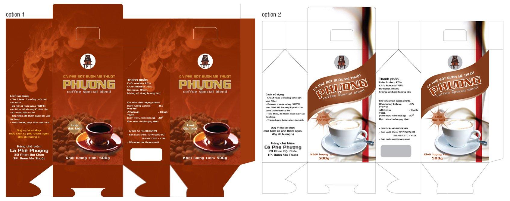 mẫu in hộp giấy cà phê