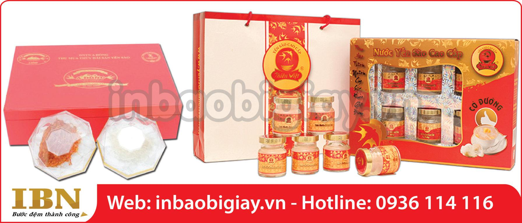 in hộp yến sào cao cấp