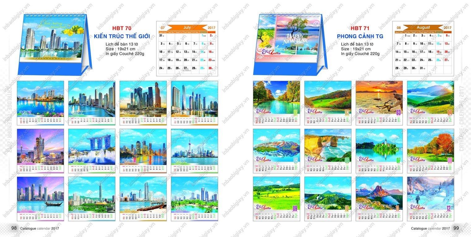 in ấn lịch để bàn giá rẻ 2017