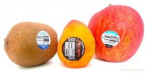 Mã PLU in trên nhãn dán hoa quả