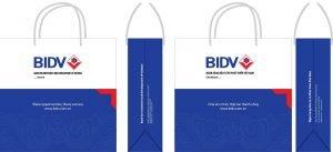 Mẫu in túi giấy của BIDV