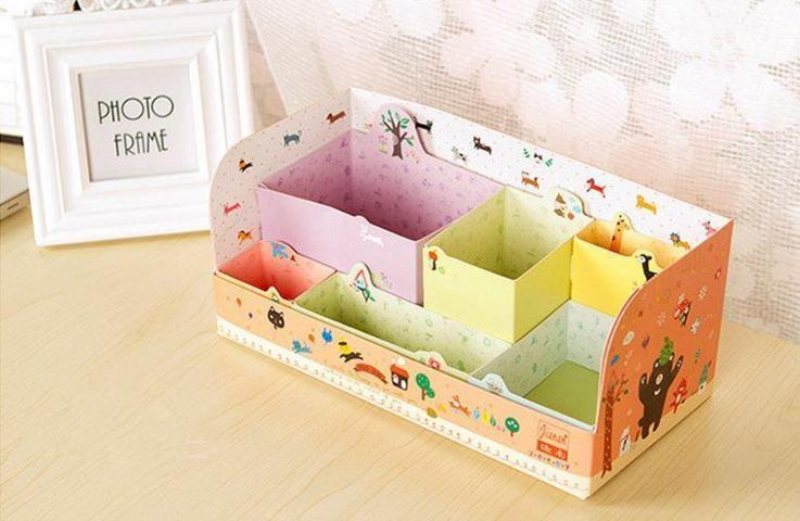 In hộp giấy đựng bút handmade