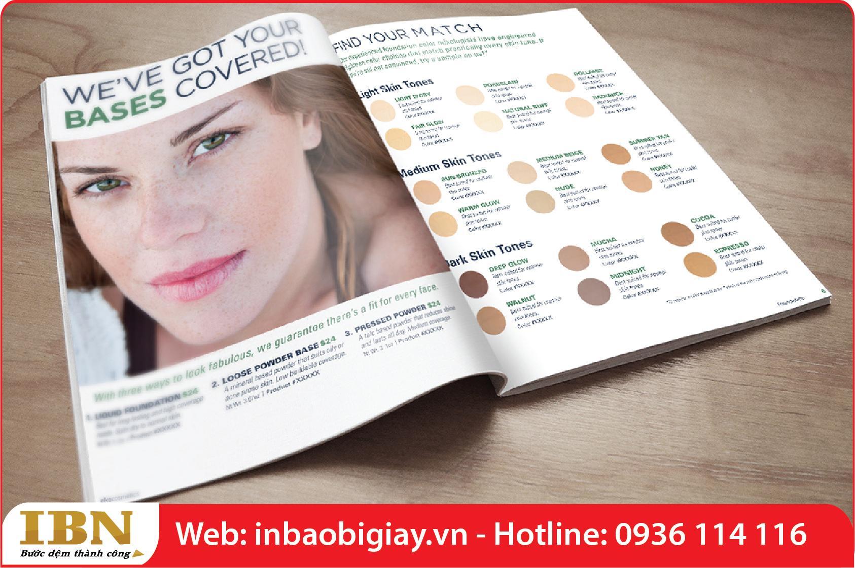 mẫu in catalogue mỹ phẩm  dưỡng da