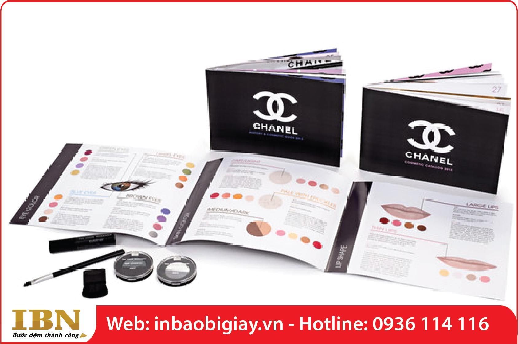 in catalogue quảng cáo mỹ phẩm