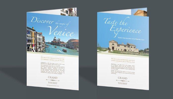 in brochure sự kiện