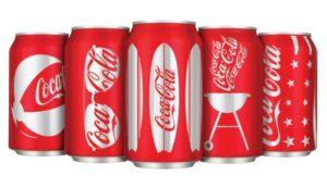 Màu đỏ đặc trưng của thương hiệu CocaCola