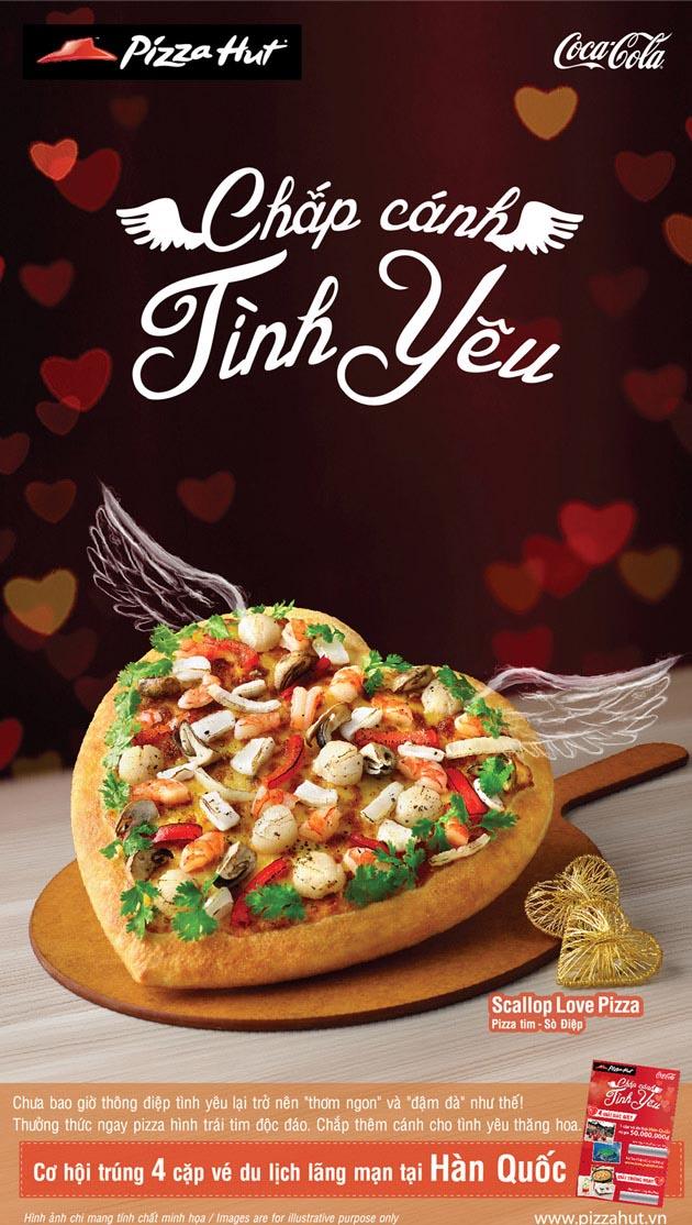 mẫu thiết kế poster quảng cáo thức ăn cho ngày lễ valentine