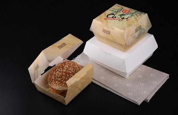 in hộp giấy đựng bánh hamburger giá rẻ