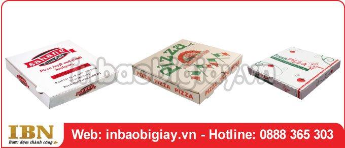 Mẫu hộp đựng bánh pizza