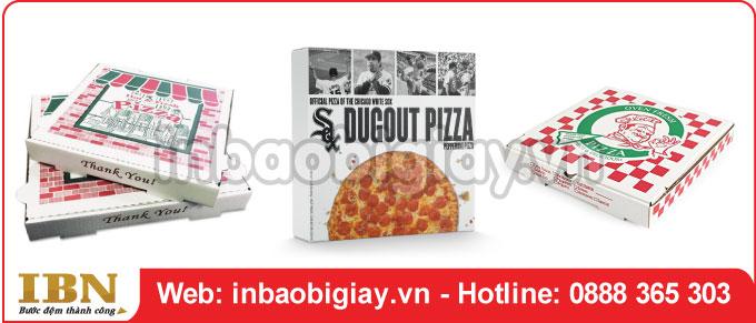 Mẫu hộp bánh pizza ấn tượng