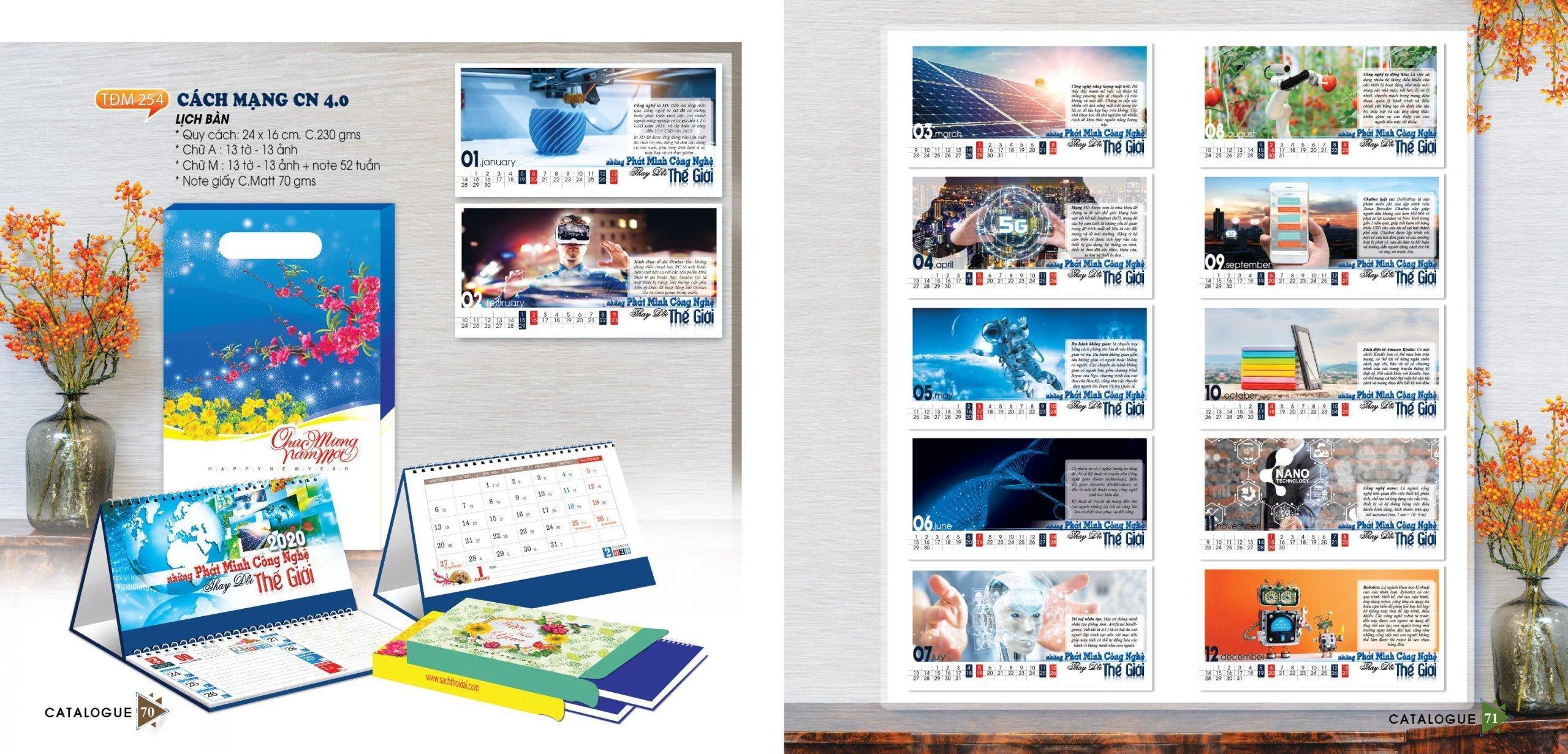 mẫu lịch để bàn số 12