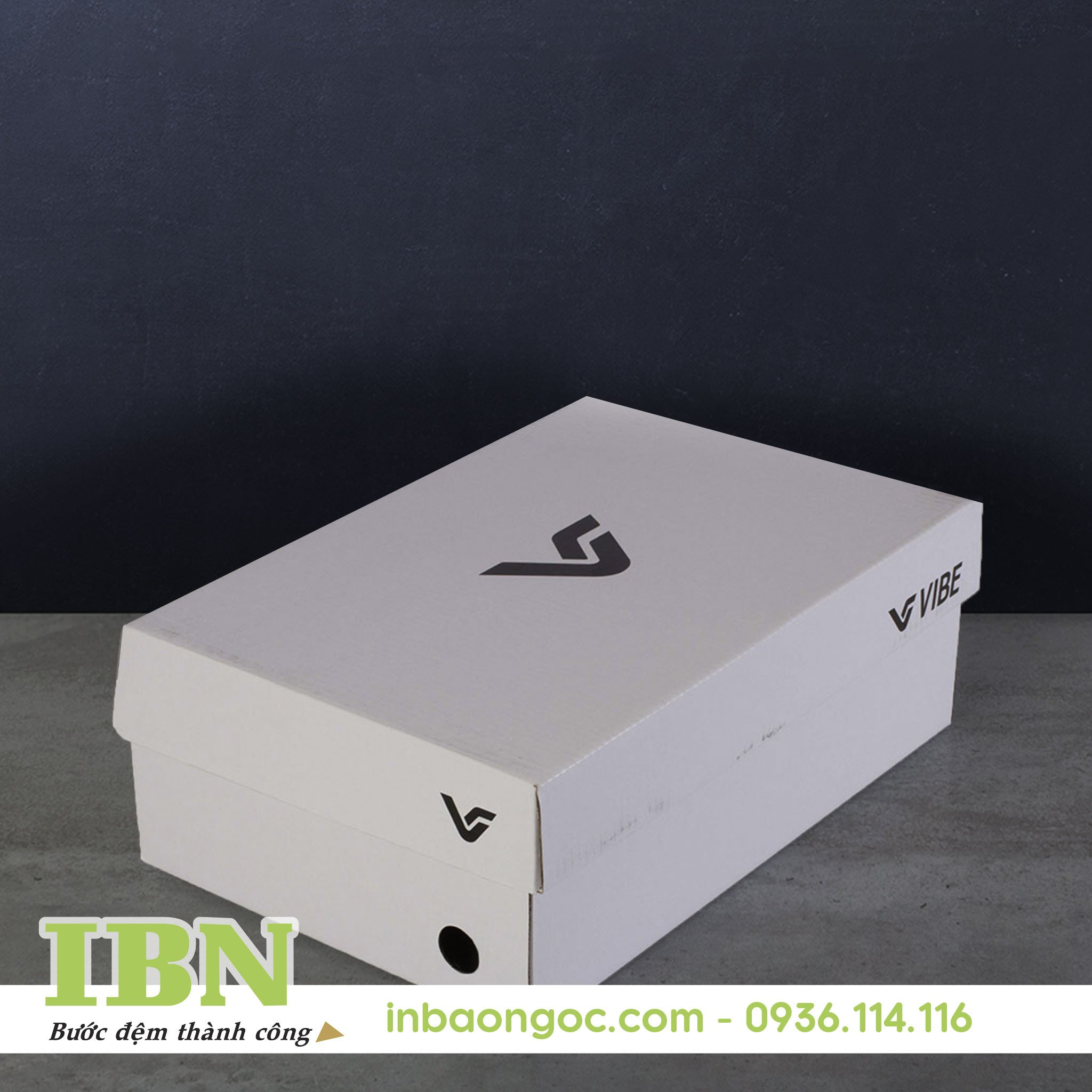Mẫu hộp giấy đựng giày đẹp 06