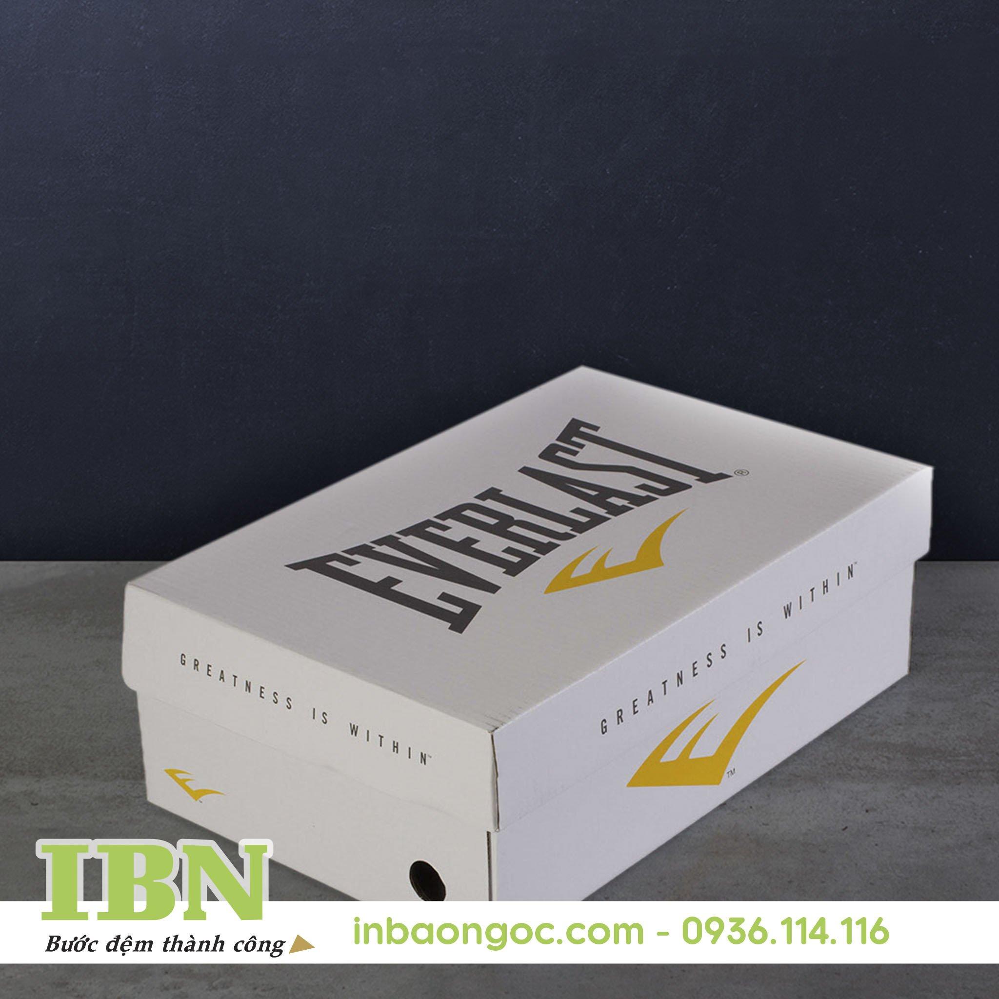 Mẫu hộp giấy đựng giày đẹp 01