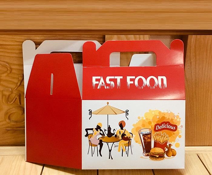 in hộp fastfood có quai đẹp