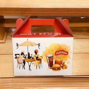 in hộp fastfood có quai